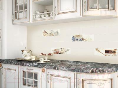 Декоративная плитка Monopole Vellada Platinum Crema Mate (400x100)