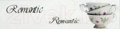 Декоративная плитка Monopole Veronika Romantique Blanco Brillo (400x100)