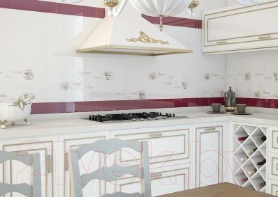 Декоративная плитка Monopole Veronika Tea Cup Blanco Brillo (400x100)