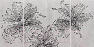 Декоративная плитка Pilch Панно Vulcano 1 (1200x600, серый)