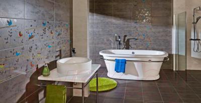 Декоративная плитка для ванной Pilch Панно Land 5 (600x600)