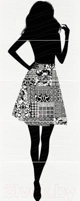 Декоративная плитка для ванной Pilch Панно Inez Woman 1 (1500x600)
