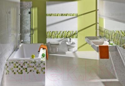 Декоративная плитка для ванной Pilch Carrara 1 (600x300)
