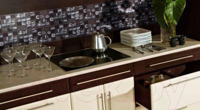 Декоративная плитка для кухни Pilch Панно Magma 4 Czarny (600x600)