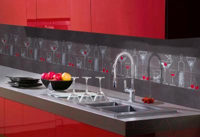 Декоративная плитка для кухни Pilch Панно Magma 3 Czarny (600x600)