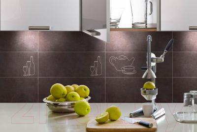 Декоративная плитка для кухни Pilch Etna 10 Czarny (450x170)