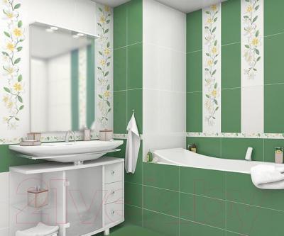 Плитка для стен ванной AltaCera Luster Blanco WT9LST00 (500x249)