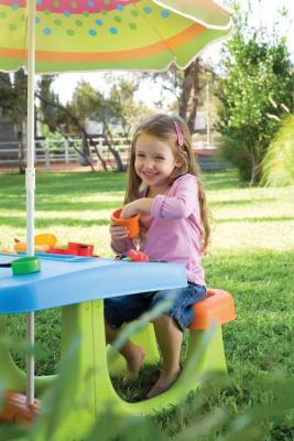 Детская площадка Keter Patio Center / Патио Центр (220155) - зонт в комплект не входит