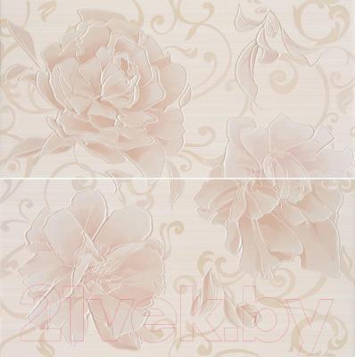 Декоративная плитка AltaCera Панно Pion S/2 Crema SW9PIN01 (500x498)
