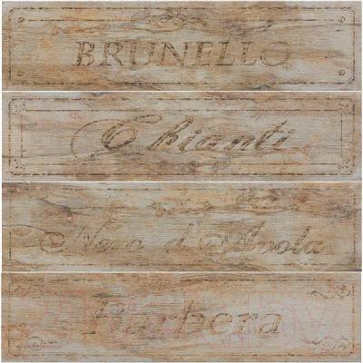 Декоративная плитка Rondine MetalWood Musk Wine Mix J84348 (610x150)