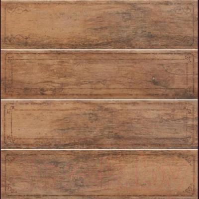 Декоративная плитка Rondine MetalWood Tobacco Bordo Mix J84374 (610x150)