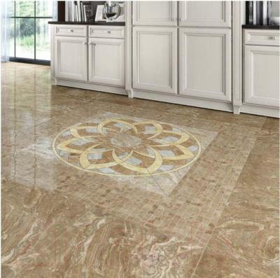 Плитка Kerranova Premium Marble Light Brown Lapp. (600x600)