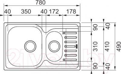 Мойка кухонная Franke PXT 651-78 (101.0257.629) - схема