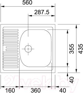 Мойка кухонная Franke ETN 611-56 (101.0175.575) - схема
