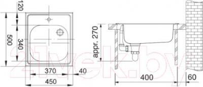Мойка кухонная Franke ETX 610-45 (101.0030.384) - схема
