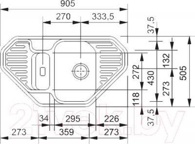 Мойка кухонная Franke EFG 682E (114.0185.111) - схема