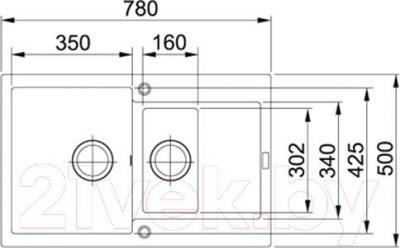 Мойка кухонная Franke MRG 651-78 (114.0198.336) - схема