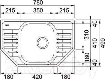 Мойка кухонная Franke PXN 612E (101.0193.000) - схема