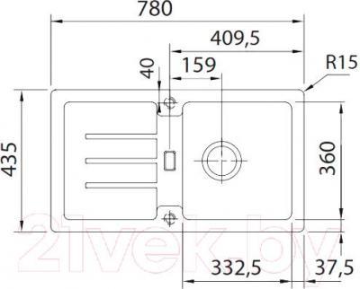 Мойка кухонная Franke STG 614-78 (114.0312.529) - схема