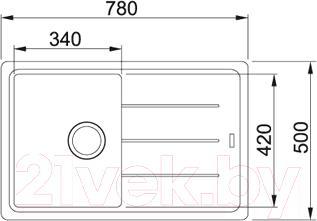 Мойка кухонная Franke BFG 611 (114.0259.914) - схема