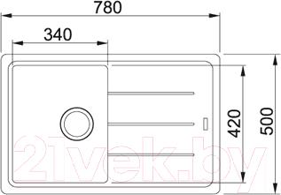 Мойка кухонная Franke BFG 611 (114.0259.913) - схема