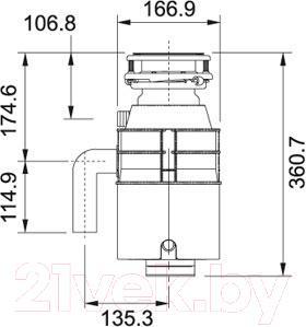 Измельчитель отходов Franke WD 50 (134.0253.918)