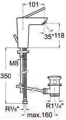 Смеситель Roca Touch A5A3047C00