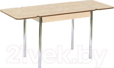 Обеденный стол Кубика Милан-2 (беленый дуб/хром)
