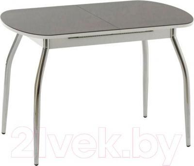 Обеденный стол Кубика Портофино-1 (белый/хром) - в сложенном виде