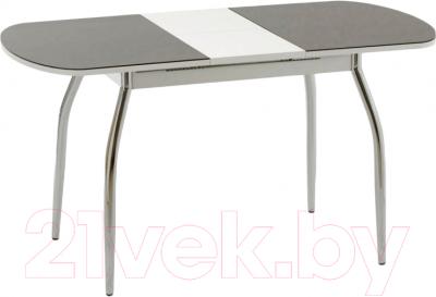 Обеденный стол Кубика Портофино-1 (белый/черный)