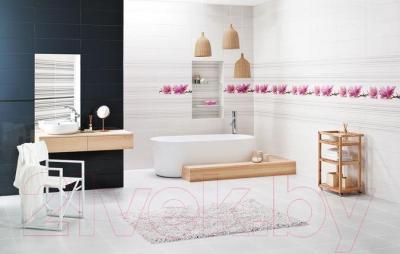 Декоративная плитка для ванной Ceramika Paradyz Abrila Paski A (600x200)
