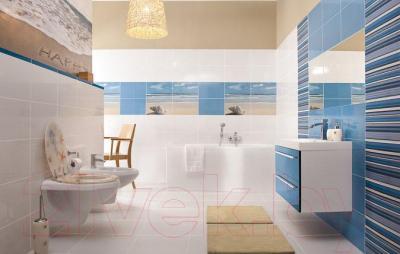 Декоративная плитка Ceramika Paradyz Acapulco Blue Kwiat (400x250)