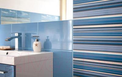 Декоративная плитка для ванной Ceramika Paradyz Acapulco Blue Paski (400x250)