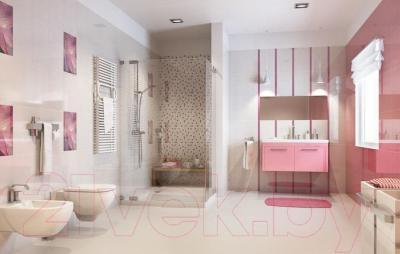 Декоративная плитка для ванной Ceramika Paradyz Acapulco Rosa Paski (400x250)
