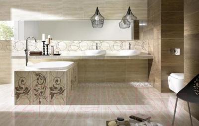 Бордюр для ванной Ceramika Paradyz Amiche Brown (600x70)