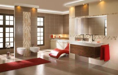 Плитка для стен ванной Ceramika Paradyz Carioca Brown (400x250)