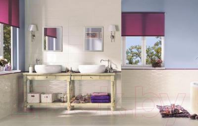 Декоративная плитка для ванной Ceramika Paradyz Chiara Beige Kwiat A (600x200)