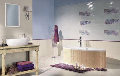 Декоративная плитка для ванной Ceramika Paradyz Chiara Beige Kwiat B (600x200)