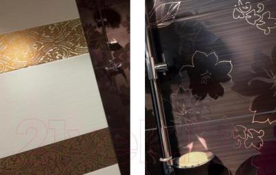 Декоративная плитка для ванной Ceramika Paradyz Delicate Brown C (500x300)