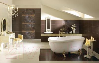 Бордюр для ванной Ceramika Paradyz Delicate Gold Arabeska (500x150)