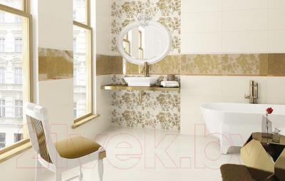 Бордюр для ванной Ceramika Paradyz Imandra Bianco A (600x144)