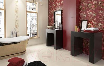 Бордюр для ванной Ceramika Paradyz Imandra Rosso (600x144)