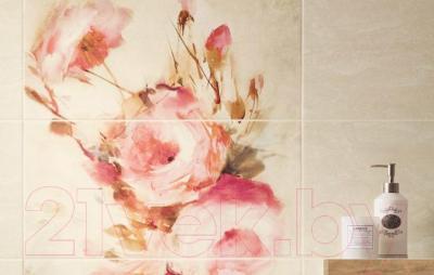 Декоративная плитка для ванной Ceramika Paradyz Панно Coraline Roze (900x600)