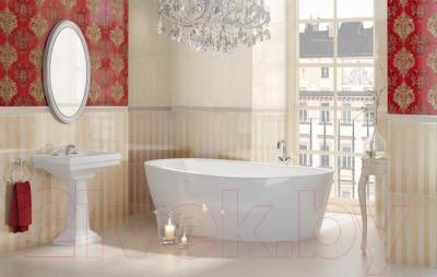 Бордюр для ванной Ceramika Paradyz Inspiration Beige Strukturalna (300x40)