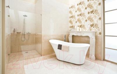 Декоративная плитка для ванной Ceramika Paradyz Панно Inspiration Beige Kwiat (600x600)