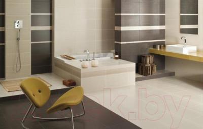 Плитка для пола ванной Ceramika Paradyz Meisha Garam Brown (400x400)