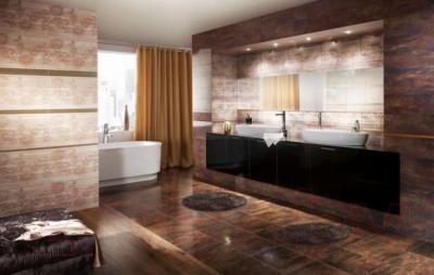 Бордюр для ванной Ceramika Paradyz Miriam Brown (600x40)