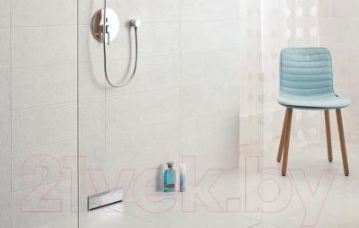 Плитка для пола ванной Ceramika Paradyz Nirrad Niro Grys (400x400)