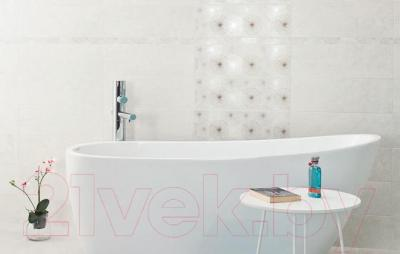 Плитка для стен ванной Ceramika Paradyz Nirrad Bianco Kropki (600x200)
