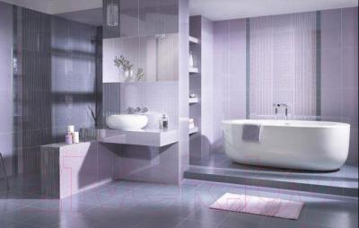 Плитка для пола ванной Ceramika Paradyz Piumetta Piume Grys (325x325)